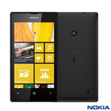 "Smartphone Nokia Lumia 520 Preto com 4"", 3G, Windows Phone 8, Dual Core 1GHz, 08 GB e Câmera de 5.0 MP"