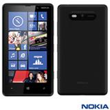 """Smartphone Nokia Lumia 820 com 4G, Wi-Fi, Tela Touch de 4.3"""", Câmera 8 MP, Bluetooth, Preto - 820"""