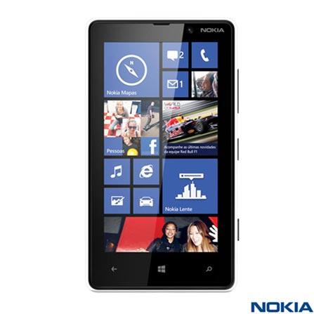 Smartphone Nokia Lumia 820 Branco com Tela Touch de 4.3