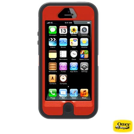 Capa Defender para iPhone 5 Otter Box - 7722116, Laranja e Cinza, 03 meses