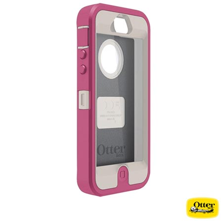 Capa Defender para iPhone 5 Otter Box - 7722122, Rosa e Branco, 03 meses