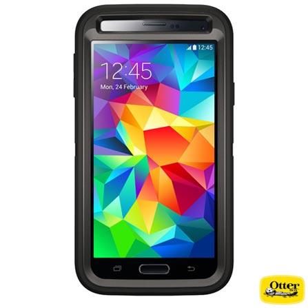 Capa Defender para Galaxy S4 Preta - Otterbox - 7727434, Preto, Policarbonato e TPU, 03 meses