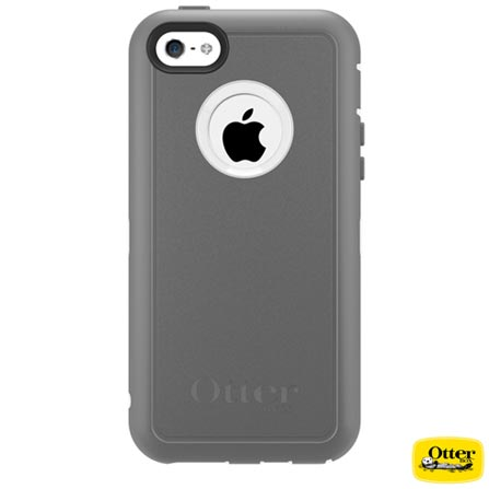 Capa Defender para iPhone 5c Cinza e Branca - Otterbox – 7733392, Cinza e Branco, 03 meses