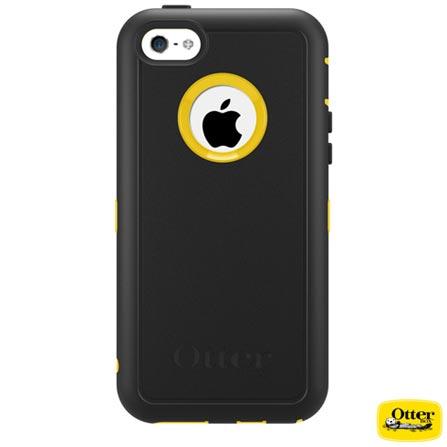 Capa Defender para iPhone 5c Amarela e Preta - Otterbox - 7733400, Amarelo e Preto, Capas e Protetores, 03 meses