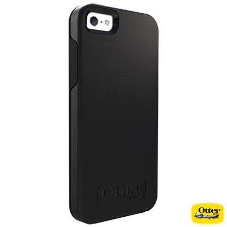 Capa Symmetry para iPhone 5 e 5s Preta - Otterbox – 7737053, Preto, Capas e Protetores, 03 meses