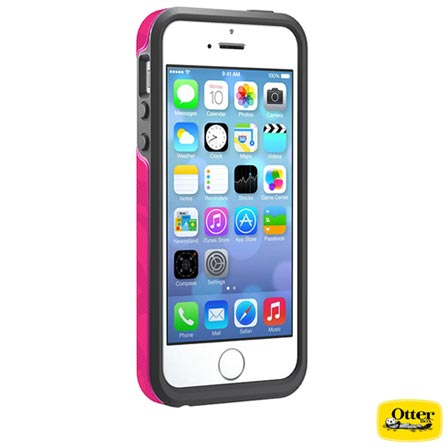Capa Symmetry para iPhone 5 e 5s Rosa - Otterbox - 7737661, Rosa, 03 meses