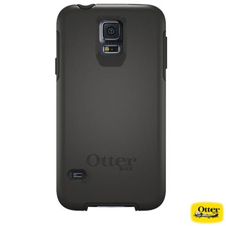 Capa Symmetry para Samsung Galaxy S5 Preta - Otterbox - 7739967, Preto, Policarbonato, 03 meses
