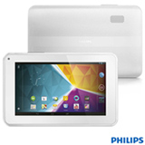 "Tablet Philips PI3100W2X/78 Branco, Wi-Fi, Android 4.1 JellyBean, Processador Dual-core 1,5GHz, 8GB, Tela LCD 7"" e FullSound"