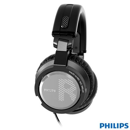 Fone de Ouvido Philips Headphone Preto - A3PRO/00, Preto, Headphone, 06 meses