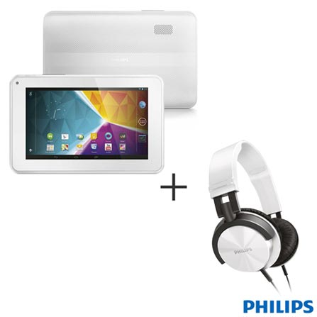 Tablet Philips PI3100W2X/78 Branco, Wi-Fi, Android 4.1, Dual-core 1,5GHz, 8GB, LCD 7