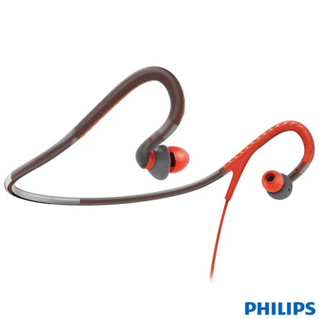 Fone de Ouvido Philips Ear-Bud Laranja e Cinza - SHQ4217/10, Laranja e Cinza, Intra-auricular, 06 meses