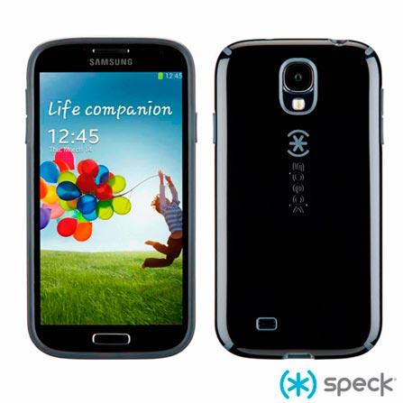 Capa Speck CandyShell para Galaxy S4 Preta e Cinza, Policarbonato, Preto e Cinza
