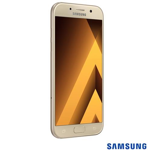 """Samsung Galaxy A5 2017 Dourado, com Tela de 5,2"""", 4G, 32 GB e Câmera de 16 MP - SM-A520F, Bivolt, Bivolt, Dourado, 0000005.20, True, 1, N, True, True, True, True, True, True, I, Galaxy A5, Android, Wi-Fi + 4G, 5.2'', Acima de 4'', Sim, Octa Core, 32 GB, 16.0 MP, 2, Não, Sim, Sim, Sim, Sim, 12 meses, Nano Chip"""