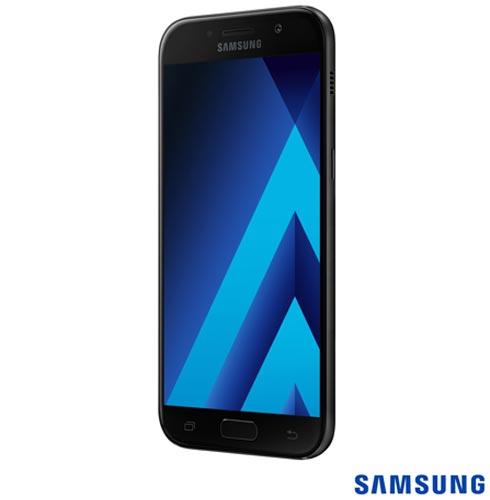 """Samsung Galaxy A5 2017 Preto, com Tela de 5,2"""", 4G, 32 GB e Câmera de 16 MP - SM-A520F, Bivolt, Bivolt, Preto, 0000005.20, True, 1, N, True, True, True, True, True, True, I, Galaxy A5, Android, Wi-Fi + 4G, 5.2'', Acima de 4'', Sim, Octa Core, 32 GB, 16.0 MP, 2, Não, Sim, Sim, Sim, Sim, 12 meses, Nano Chip"""