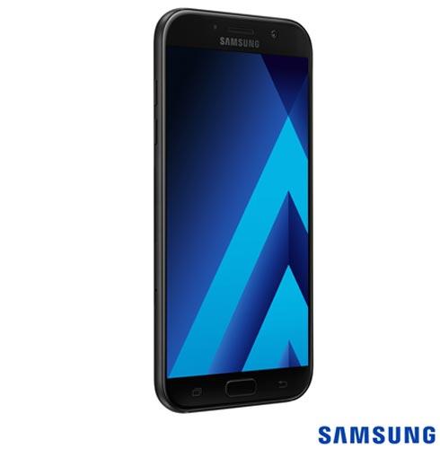 """Samsung Galaxy A7 2017 Preto, com Tela de 5,7"""", 4G, 32 GB e Câmera de 16 MP - SM-A720F, Bivolt, Bivolt, Preto, 0000005.70, True, 1, N, True, True, True, True, True, True, I, Galaxy A7, Android, Wi-Fi + 4G, 5.7'', Acima de 4'', Sim, Octa Core, 32 GB, 16.0 MP, 2, Não, Sim, Sim, Sim, Sim, 12 meses, Nano Chip"""