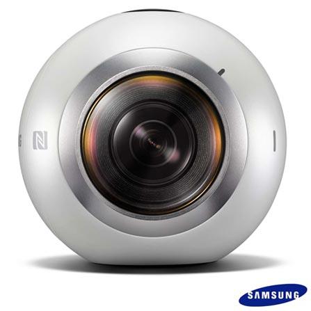 Câmera Samsung Gear 360, para Vídeos e Fotos em 360º, Branca - SM-C200NZWAZTO, Branco, 12 meses