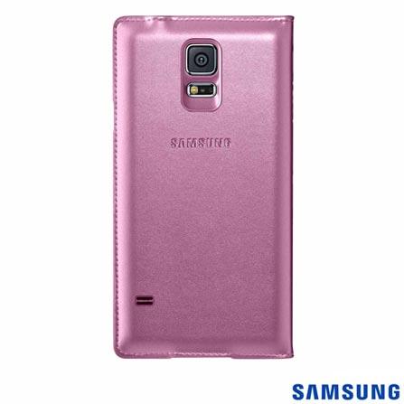 Capa S View para Samsung Galaxy S5 Glam Pink - Samsung - EF-CG900BPEGBR, Pink, Capas e Protetores, Couro, 03 meses