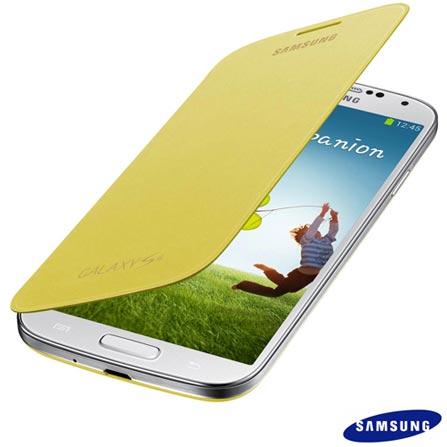 Smartphone Samsung Galaxy S4 Branco com 4G+ Capa Flip Cover Samsung para Galaxy S4 Amarela, Android acima de 4'', 0