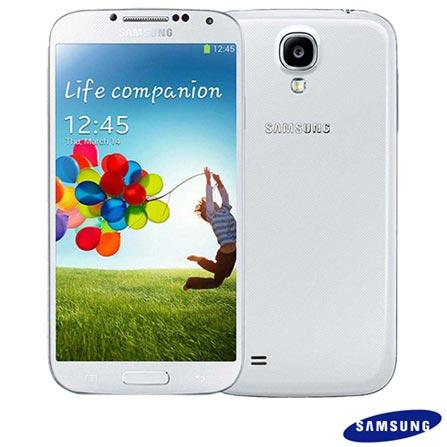 Smartphone Samsung Galaxy S4 Branco com 4G+Capa Flip Cover Samsung para Galaxy S4 Azul Claro, Android acima de 4'', 0