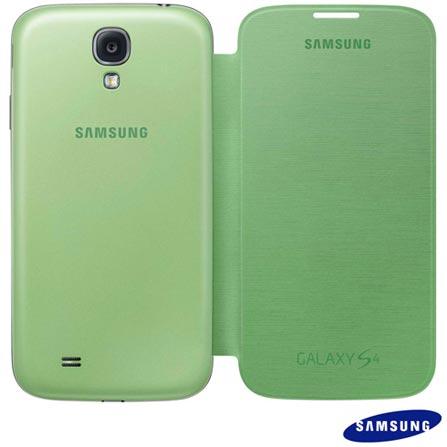 Smartphone Samsung Galaxy S4 Branco com 4G+Capa Flip Cover Samsung para Galaxy S4 Verde, Android acima de 4'', 0