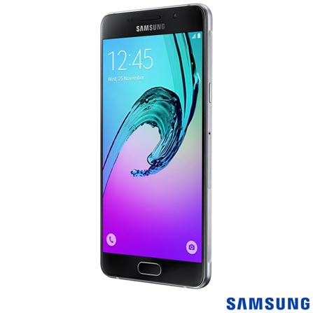 """Galaxy A5 Duos Preto, 5.2"""", 4G, 16GB e 13MP - SM-A510 + Carregador Portátil Universal com 4.200 mAh Titanium - Geonav, 0, Android acima de 4''"""
