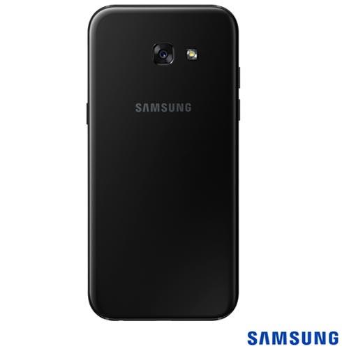 Samsung Galaxy A5 2017 Preto, Tela de 5,2, 4G, 32 GB, 16 MP - SM-A520F  + Coelhinho Lapan de Pelucia Azul - Bodobo, 0