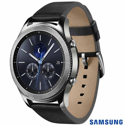 Samsung Galaxy S8 Ametista, Tela de 5,8, 4G, 64GB, 12MP SM-G950 + Gear S3 Classic Preto com 1,3, Pulseira de Couro, 1, Android acima de 4''