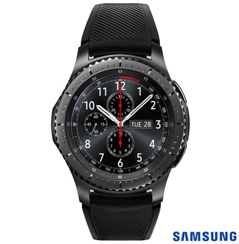 Samsung Galaxy S8 Prata, Tela de 5,8, 4G, 64GB e 12MP - SM-G950 + Gear S3 Frontier Preto com 1,3, Pulseira de Silicone, 1, Android acima de 4''