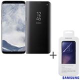 Galaxy S8 Prata, 5,8, 4G, 64 GB e 12 MP - SM-G950 + Capa Preta - EF-ZG950CB EGBR + Pelicula - ET-FG950CTEGBR