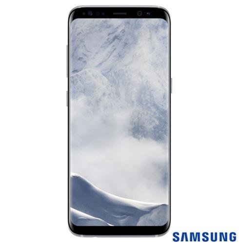 Samsung Galaxy S8 Prata, Tela de 5,8, 4G, 64GB e 12MP - SM-G950 + Gear S3 Classic Preto com 1,3, Pulseira de Couro, 1, Android acima de 4''