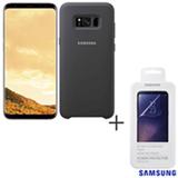 Galaxy S8 Plus Dourado, 6,2, 4G, 64GB, 12 MP - SM-G955 + Capa Preta - EF-ZG955CB EGBR + Pelicula - ET-FG950CTEGBR