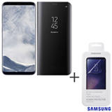 Galaxy S8 Plus Prata, 6,2, 4G, 64GB, 12 MP - SM-G955 + Capa Preta - EF-ZG955CB EGBR + Pelicula - ET-FG950CTEGBR