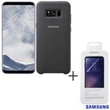 Galaxy S8 Plus Prata, 6,2, 4G, 64GB, 12 MP - SM-G955 + Capa Prata - EF- PG955TS + Pelicula - ET-FG950CTEGBR