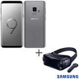 Samsung Galaxy S9 Cinza, 5,8, 4G, 128 GB e 12 MP - G960 + Oculos de Realidade Virtual Samsung Gear VR4 2D/3D - SM-R325
