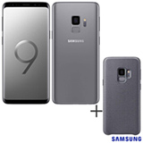 Samsung Galaxy S9 Cinza, 5,8, 4G, 128 GB e 12 MP - G960 + Capa Hyperknit Cover Cinza - Samsung - EF-GG960FJEGBR