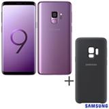 Samsung Galaxy S9 Violeta, 5,8, 4G, 128 GB e Camera de 12 MP + Capa p/ Galaxy S9 Silicone Cover Preta Samsung