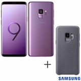 Samsung Galaxy S9 Violeta, 5,8, 4G, 128GB, 12 MP - G960 + Capa Hyperknit Cover Cinza - Samsung - EF-GG960FJEGBR