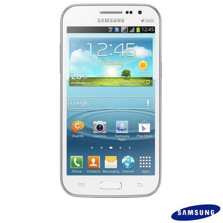 Smartphone Samsung Galaxy Win Duos Branco + Software de Segurança McAfee® LiveSafe, Android acima de 4''