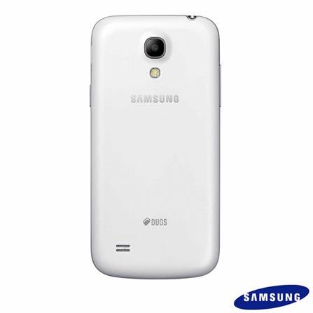 Smartphone Samsung Galaxy S4 Mini Duos Branco com Display Super Amoled HD 4.3