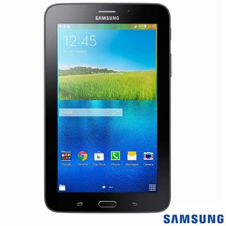 Tablet Samsung Galaxy Tab E Preto com 7, Wi-Fi, Android 4.4 e 8 GB + Limpador para Telas para LCD - Geonav - SS01, 1