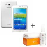 Tablet Samsung Galaxy Tab E Branco 7, 3G, Wi-Fi e 8 GB + Limpador para Telas para LCD com 120 ml - Geonav - SS01