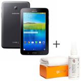 Tablet Samsung Galaxy Tab E Preto 7, 3G, Wi-Fi e 8 GB + Limpador para Telas para LCD com 120 ml - Geonav - SS01