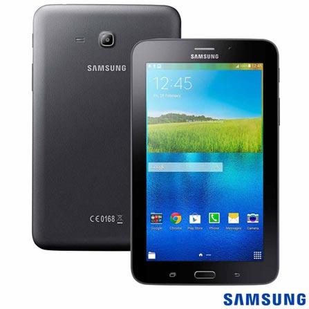 Tablet Samsung Galaxy Tab E Preto 7, 3G, Wi-Fi e 8 GB + Limpador para Telas para LCD com 120 ml - Geonav - SS01, 1
