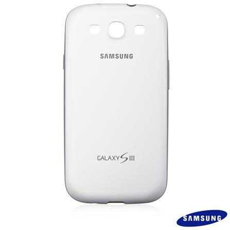 Capa Protetora Premium Samsung Branco para Galaxy S III - EFC-1G6BWECZTO, Branco, 03 meses