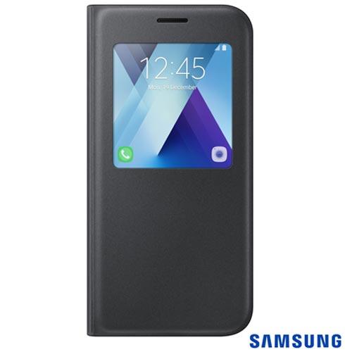 Capa para Galaxy A5 S View Standing Cover Preta - Samsung - EF-CA520PBEGBR, Preto, Capas e Protetores, Policarbonato, 03 meses