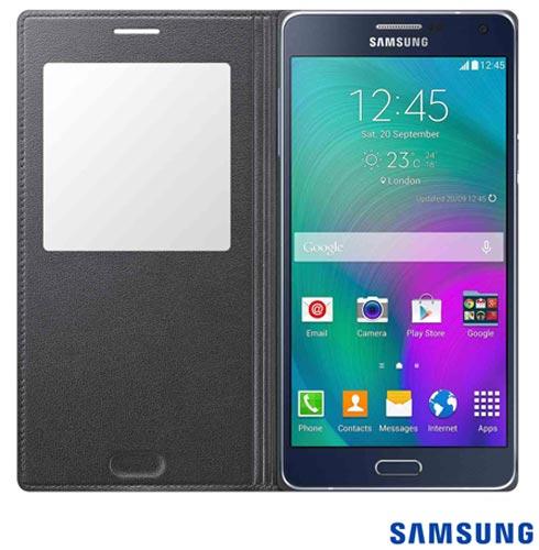 Capa S View para Galaxy A7 em Poliuretano Grafite - Samsung - EFCA700BCEG, Grafite, Capas e Protetores, Poliuretano, 03 meses