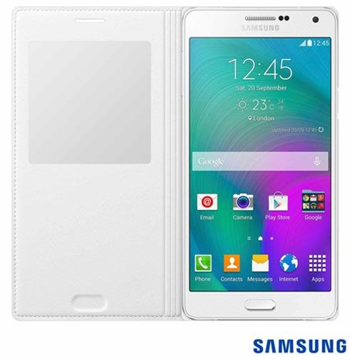 Capa S View para Galaxy A7 em Poliuretano Branca - Samsung - EFCA700BWEG, Branco, Capas e Protetores, Poliuretano, 03 meses