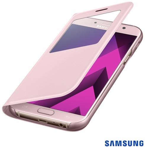 Capa para Galaxy A7 S View Standing Cover Rosa - Samsung - EF-CA720PPEGBR, Rosa, Capas e Protetores, Policarbonato, 03 meses
