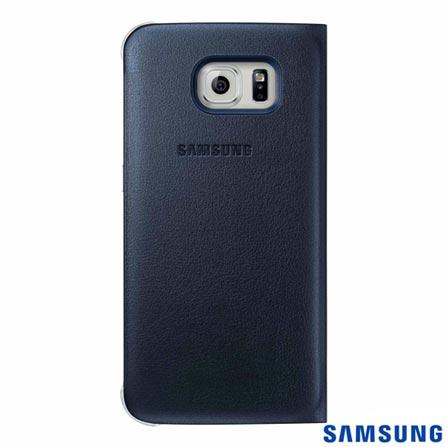 Capa S View para Galaxy S6 Preta - Samsung - EFCG920PB, Capas e Protetores, Poliuretano, 03 meses