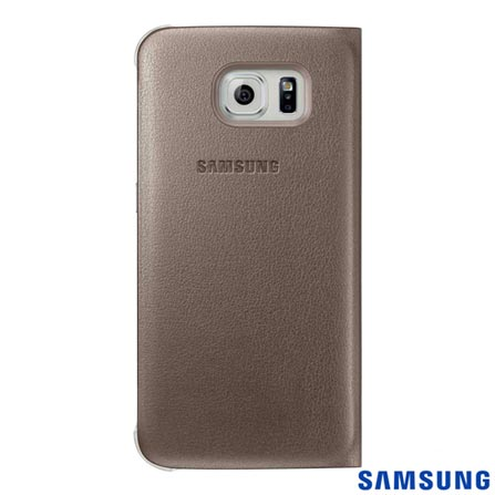 Capa S View Galaxy S6 Dourada - Samsung - EFCG920PF, Dourado, Capas e Protetores, Poliuretano, 03 meses